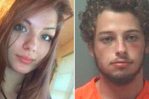 Kirsten Fritch, left, and Jesse Dobbs. Dobbs — a 21-year-old with a history of domestic violence — is facing a murder charge for the death of his girlfriend, 16-year-old Fritch.