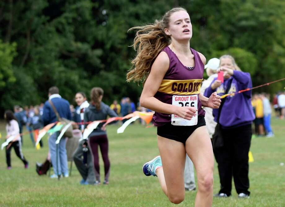 Colonie's Kathryn Tenney comes in first in the Girls' Division II Grout Run on Saturday, Oct. 1, 2016, at Central Park in Schenectady, N.Y. (Cindy Schultz / Times Union) Photo: Cindy Schultz / Albany Times Union