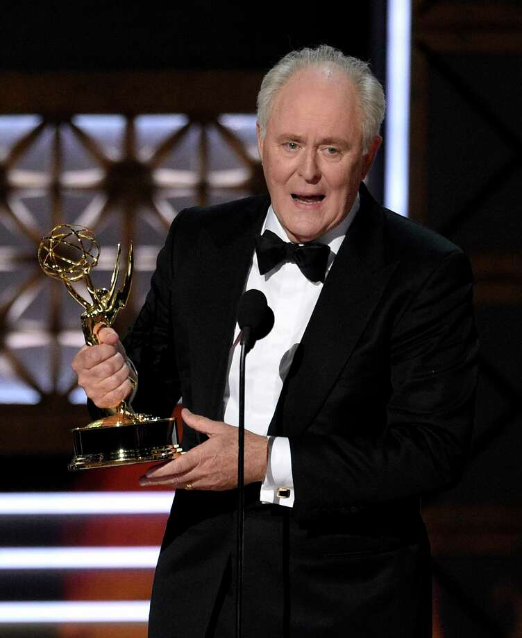 """John Lithgow accepts the award for outstanding supporting actor in a drama series for """"The Crown"""" at the 69th Primetime Emmy Awards on Sunday, Sept. 17, 2017, at the Microsoft Theater in Los Angeles. (Photo by Chris Pizzello/Invision/AP) Photo: Chris Pizzello, INVL / 2017 Invision"""