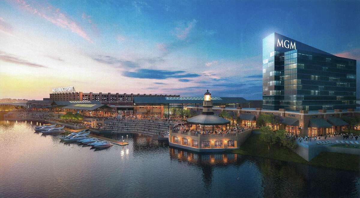 Conceptual rendering of MGM Bridgeport Resort Casino & Entertainment District.
