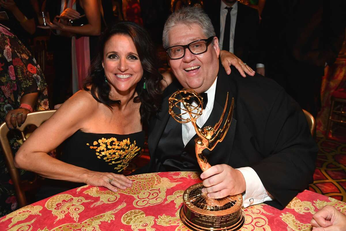 Julia Louis-Dreyfus and David Mandel attend the HBO's Official 2017 Emmy After Party at The Plaza at the Pacific Design Center on September 17, 2017 in Los Angeles, California.