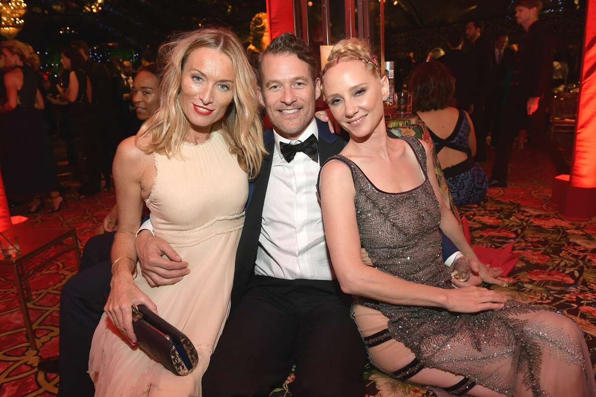 (L to R) Guest, James Tupper, and Anne Heche attend HBO's Post Emmy Awards Reception at The Plaza at the Pacific Design Center on September 17, 2017 in Los Angeles, California.
