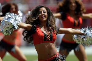 Tampa Bay Buccaneers perform during the first half of an NFL football game against the Chicago Bears, Sunday, Sept. 17, 2017, in Tampa, Fla. (AP Photo/Chris O'Meara)