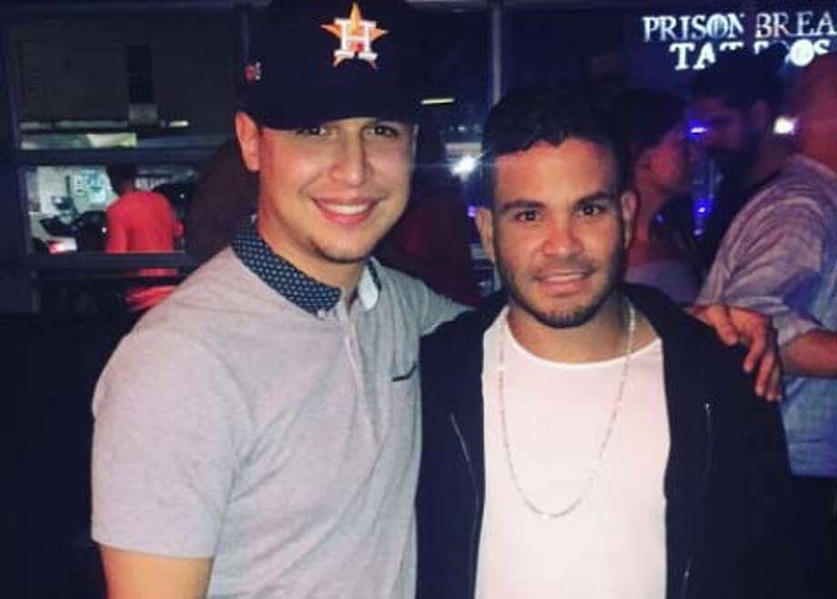 Astros fan Mike Armenta posted a photo with the Astros' Jose Altuve from the postgame celebration at Concrete Cowboy. Photo: Instagram.com/Mike_Armenta