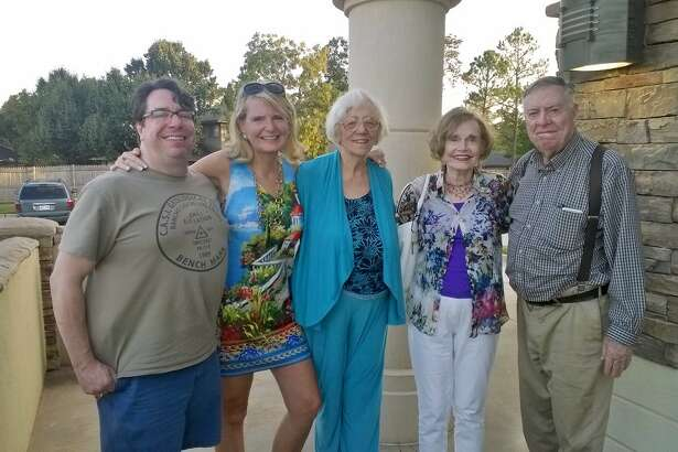Mack Harrison, from left, Anne Cloninger, Marilyn Harrison, Roseann Herndon and Harry Harrison