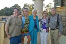 Mack Harrison, from left, Anne Cloninger, Marilyn Harrison, Roseann Herndon and Harry Harrison