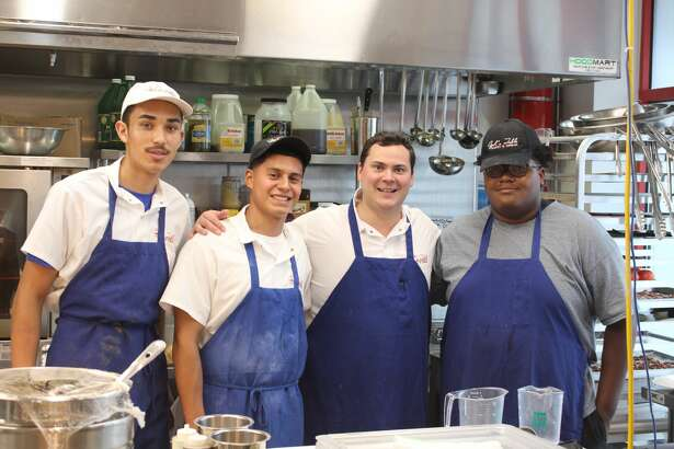 Opal's Table: Jesus Lozeno, from left, Devin Felarve, Chef Chip Hight, Zachary Breaux