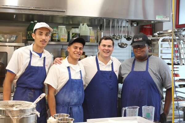 Opal's Table: Jesus Lozeno, from left, Devin  Felarve, Chef Chip Hight, Zachary Breaux