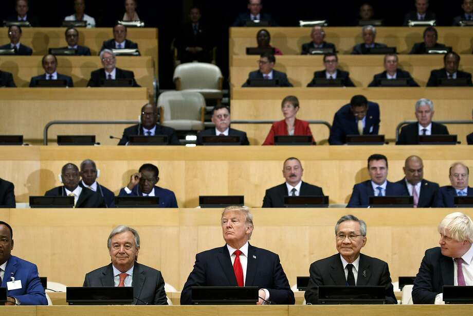 President Trump joins other global leaders at the United Nations headquarters in New York City