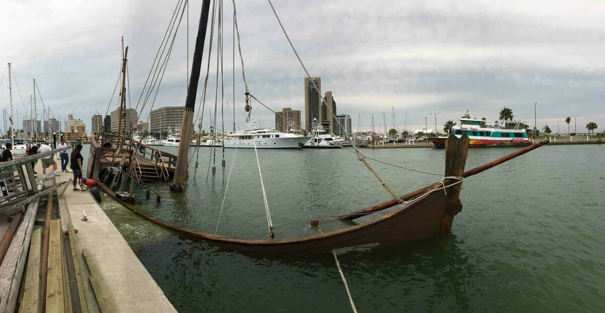 The Columbus Sailing Association launched a GoFundMe campaign to repair the bottom of its Nina replica sitting in a Corpus Christi Bay after Hurricane Harvey.
