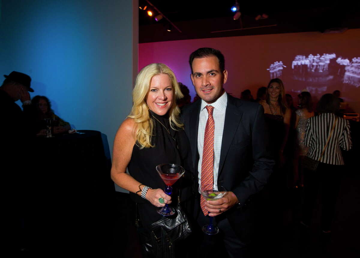 Kara and Ulises Vidal during Martini Madness, a cocktail fundraiser benefitting Houston Center for Contemporary Craft on Sept. 15, 2017, in Houston.