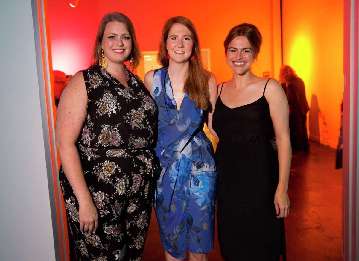 Andrea Condara, Anne Marie Thomeer and Victoria Ridgway during Martini Madness, a cocktail fundraiser benefitting Houston Center for Contemporary Craft on Sept. 15, 2017, in Houston.