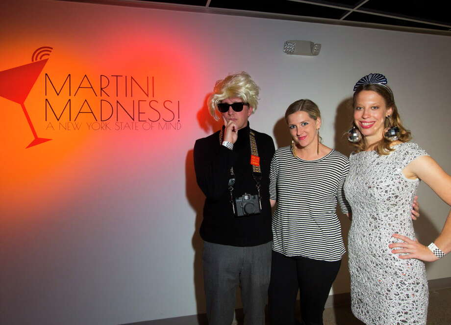 Perry Price, Rosemary Price and Kathryn Hall during Martini Madness, a cocktail fundraiser benefitting Houston Center for Contemporary Craft on Sept. 15, 2017, in Houston. Photo: Annie Mulligan / @ 2017 Annie Mulligan
