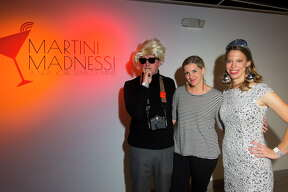Perry Price, Rosemary Price and Kathryn Hall during Martini Madness, a cocktail fundraiser benefitting Houston Center for Contemporary Craft on Sept. 15, 2017, in Houston.