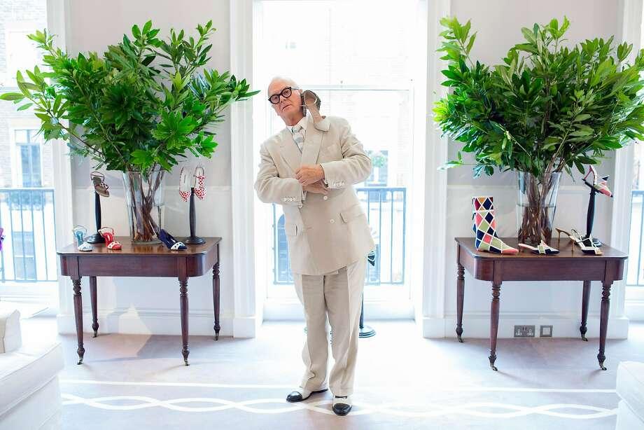 Manolo Blahnik, the shoe designer, at Manolo Blahnik headquarters in London, Sept. 1, 2017. Photo: LAUREN JOY FLEISHMAN, NYT
