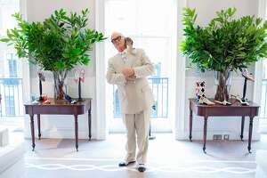 Manolo Blahnik, the shoe designer, at Manolo Blahnik headquarters in London, Sept. 1, 2017. British fashion writer and artist Michael Roberts has directed a new documentary on the life of Blahnik, �Manolo: The Boy Who Made Shoes for Lizards.� (Lauren Fleishman/The New York Times)