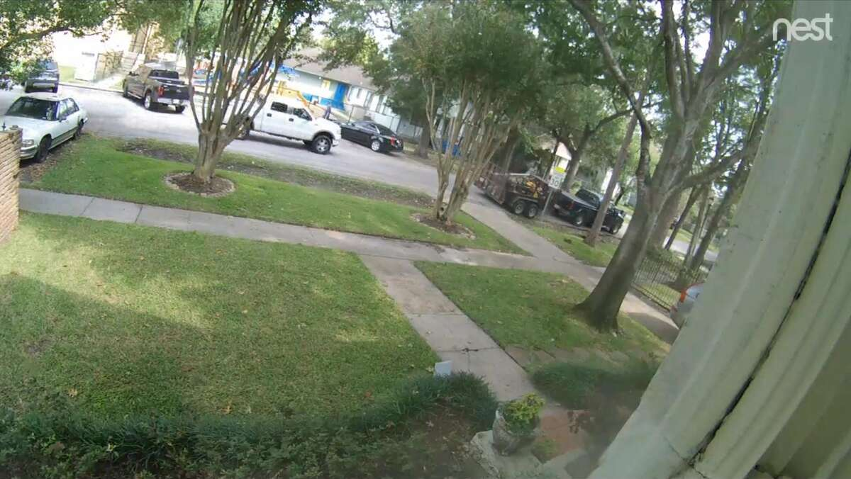 Residents in one Heights neighborhood are asking neighbors to be on the lookout for this white F-150 pickup truck and the stolen pickup and trailer, at right. The men who stole the truck allegedly flashed a gun.