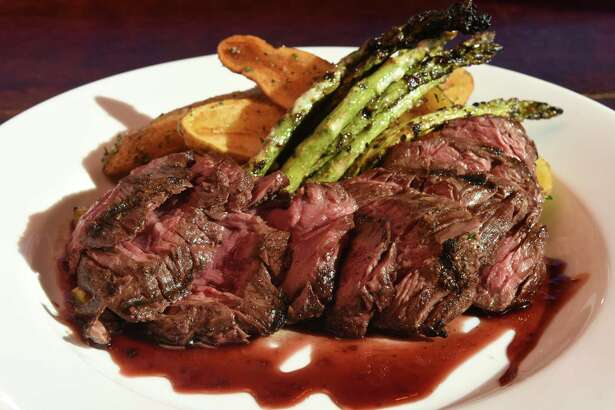 Hanger steak at the Savoy Taproom at 301 Lark Street on Thursday Sept. 29, 2016 in Albany , N.Y. (Michael P. Farrell/Times Union)