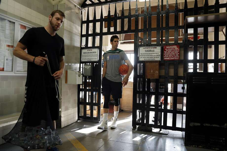 Warriors General Manager Bob Myers enters the sally port before the Warriors played a pick up game against the San Quentin Warriors in their annual trip to San Quentin Prison in San Quentin, Calif., on Friday, September 15, 2017. Photo: Carlos Avila Gonzalez, The Chronicle