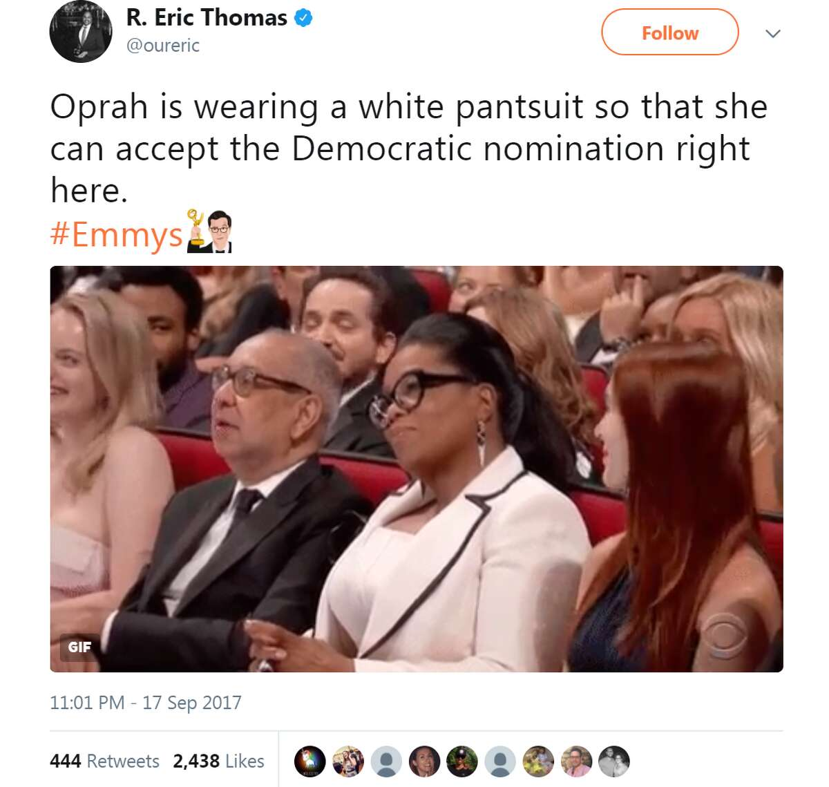 Twitter reacts The 2017 Emmys were a mixed night for those who tuned in, at least according to social media reaction. See how Twitter reacted to the 2017 Emmys oureric