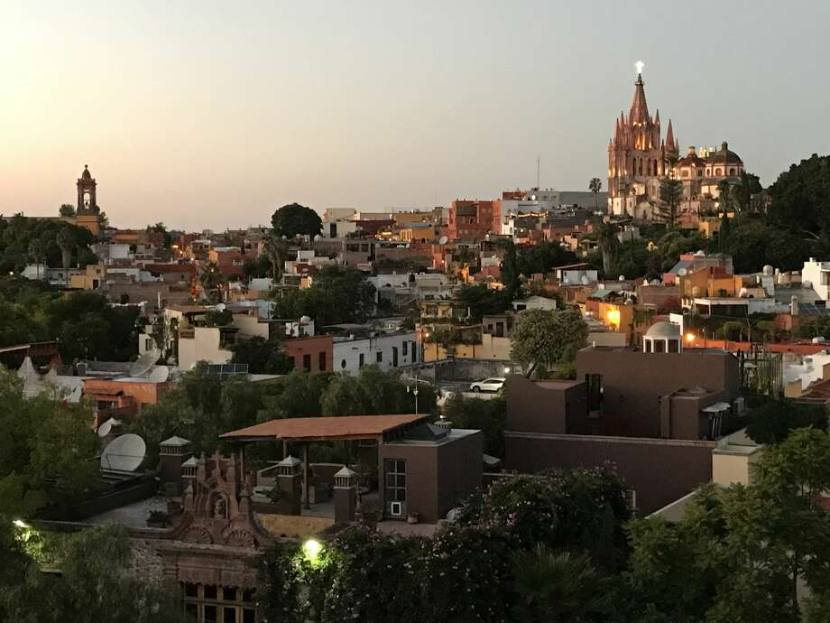 San Miguel de Allende at sunset is a beautiful site on a summer evening. Photo: Dwight Silverman / Houston Chronicle