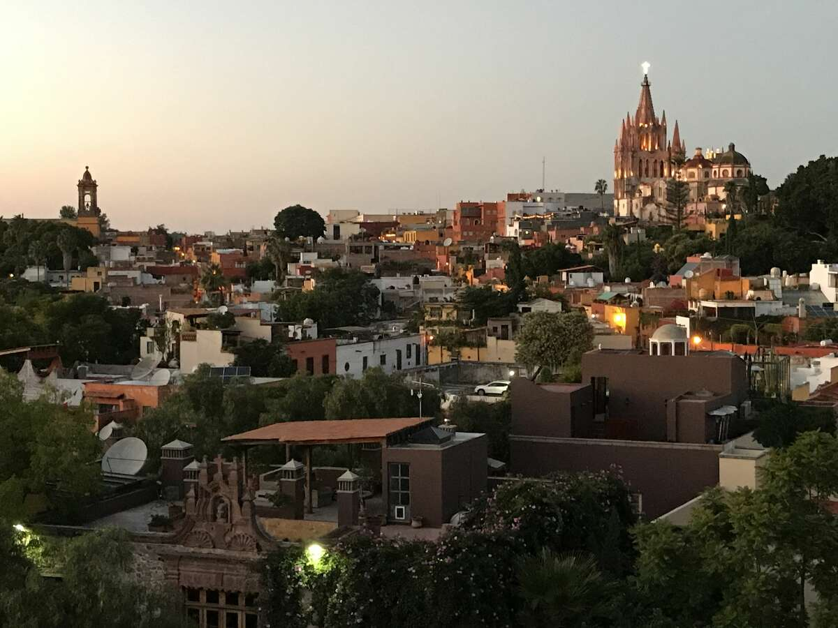 San Miguel de Allende at sunset is a beautiful sight on a summer evening.
