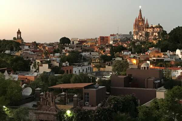San Miguel de Allende at sunset is a beautiful site on a summer evening.
