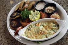 Seafood sampler at Scenic Loop Cafe.