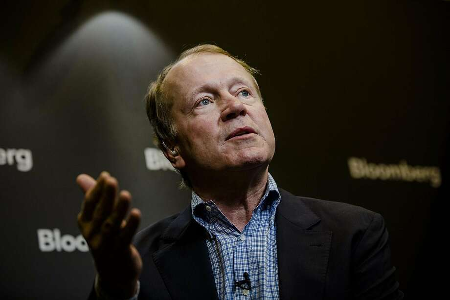 John Chambers, 68, who served as CEO of Cisco from 1995 until 2015, will not stand for re-election as chairman to the company's board in December. Photo: Marlene Awaad, Bloomberg