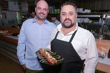 Flinders Lane co-owners Chris McPherson and Chris Rendell are photographed during an opening party for their new Australian restaurant, at 184 Summer St., on Tuesday, Sept. 12, 2017 in Stamford, Connecticut.