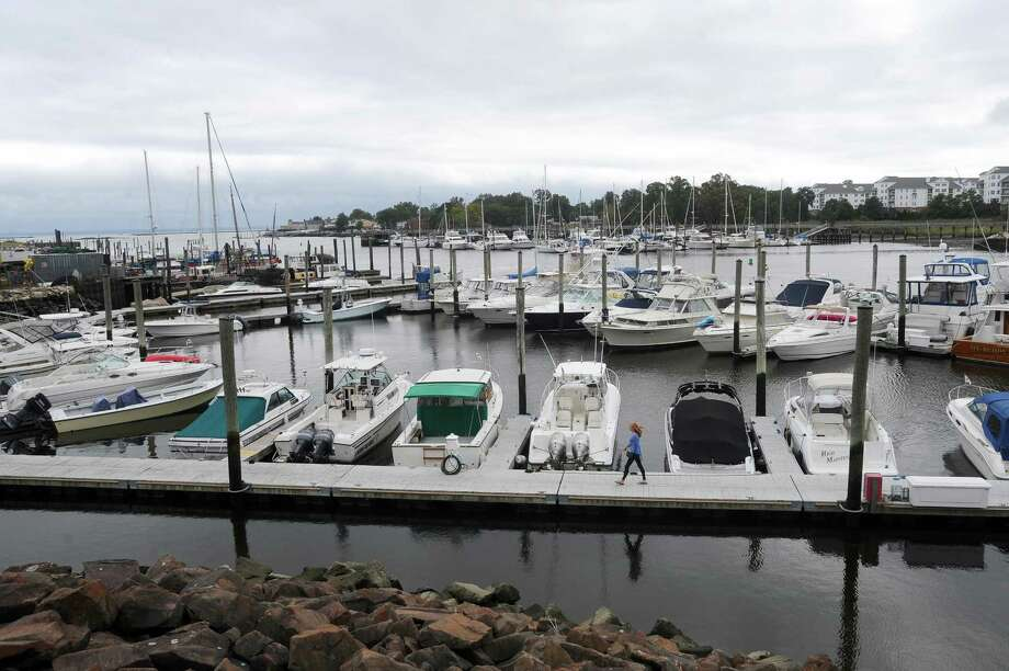 Boats sit calmly in the West Branch of Stamford Harbor on Monday. Hurricane Jose is expected to affect Fairfield County beginning Tuesday evening. Photo: Michael Cummo / Hearst Connecticut Media / Stamford Advocate
