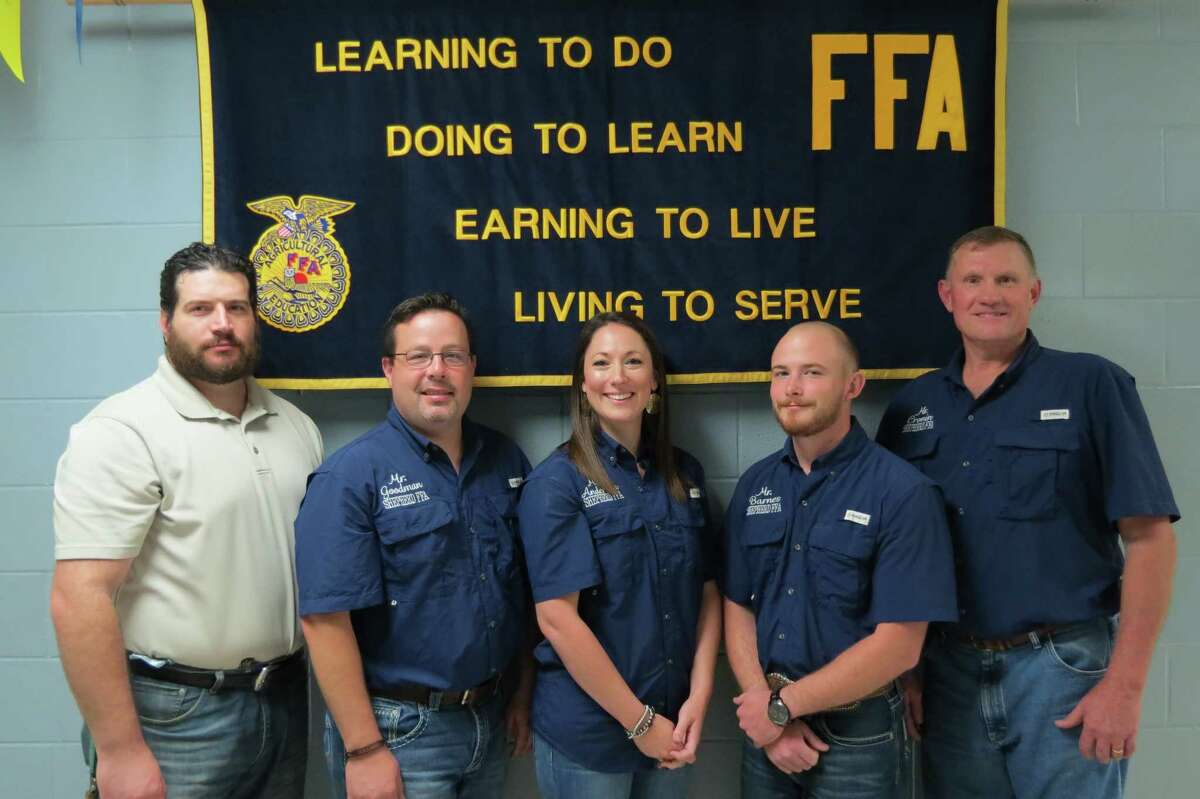 Caitlin Anderson, Christin Baccigalopi, Kenny Barnes, Steve Cronin, and Tony Goodman are the leaders of Shepherd's agricultural science department.