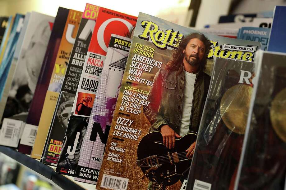 SAN FRANCISCO, CA - SEPTEMBER 18: A copy of Rolling Stone magazine is displayed on a shelf at Smoke Signals newsstand on September 18, 2017 in San Francisco, California. Wenner Media announced that it is selling its controlling stake in the iconic music magazine Rolling Stone one year after the the company sold a 49 percent stake of magazine to BandLab Technologies. Photo: Justin Sullivan /Getty Images / 2017 Getty Images