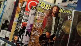 SAN FRANCISCO, CA - SEPTEMBER 18: A copy of Rolling Stone magazine is displayed on a shelf at Smoke Signals newsstand on September 18, 2017 in San Francisco, California. Wenner Media announced that it is selling its controlling stake in the iconic music magazine Rolling Stone one year after the the company sold a 49 percent stake of magazine to BandLab Technologies.