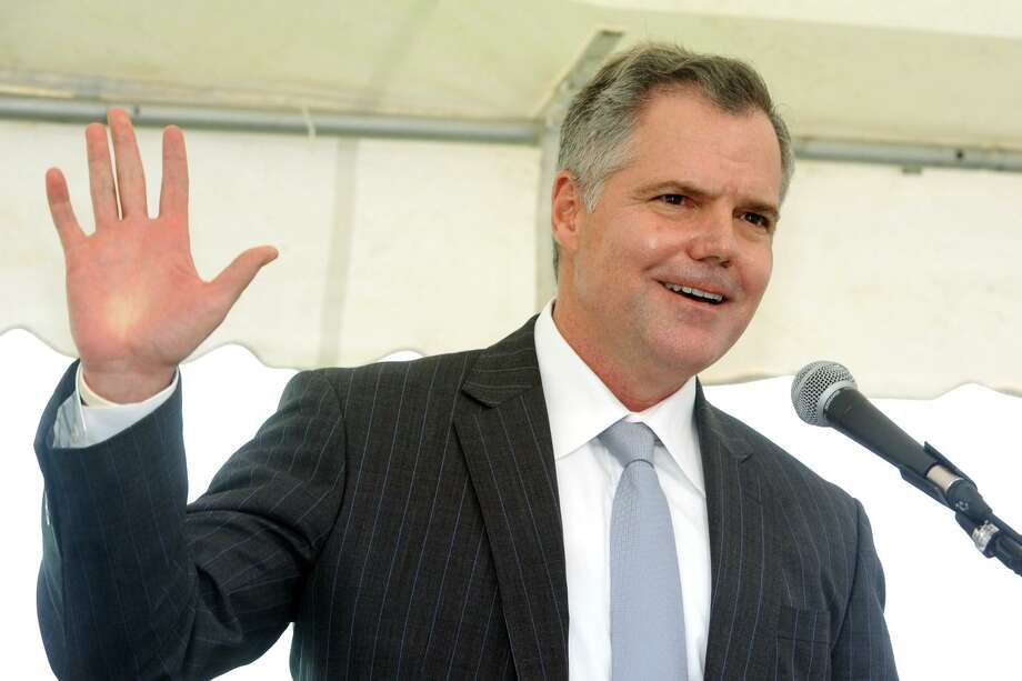 Jim Murren, Chairman and Chief Executive Officer of MGM Resorts International speaks at an event announcing MGM Bridgeport, a new waterfront casino and entertainment complex to be built in Bridgeport, Conn. Sept. 18, 2017. Photo: Ned Gerard / Hearst Connecticut Media / Connecticut Post
