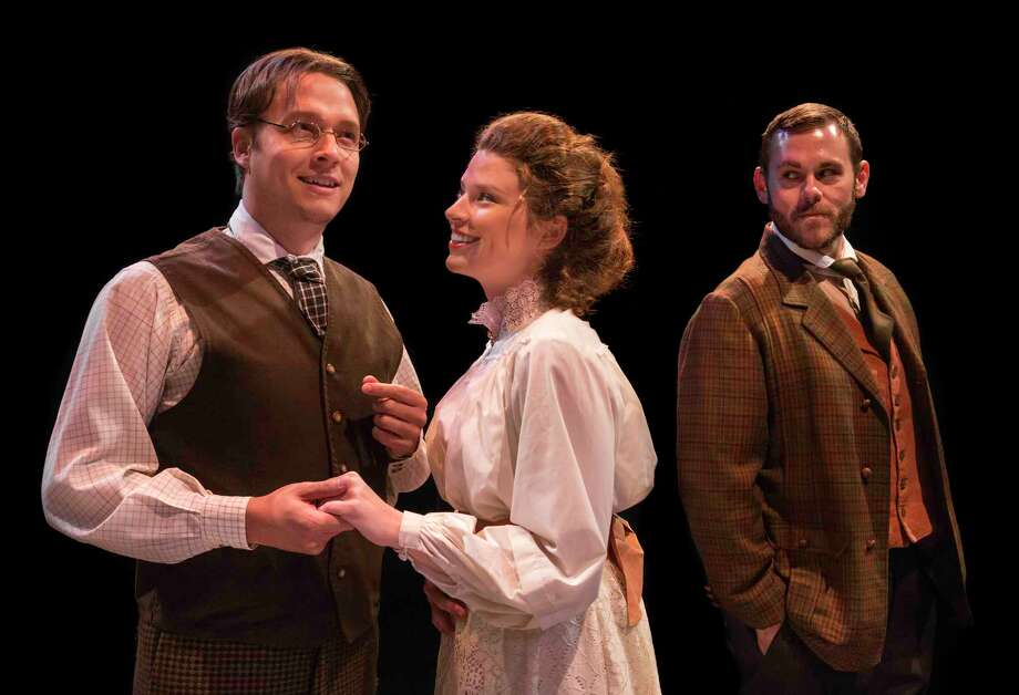 """Matt Andersen, left, Meg Rodgers and Jacob Offen appear in the  Main Street Theater production of """"Enemies."""" Photo: Blueprint Film Co."""