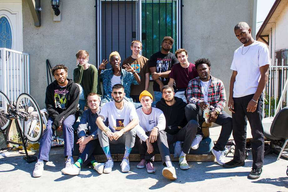 "Brockhampton is a 14-member collective of artists and rappers who describe themselves as an ""All-American boy band."" Photo: Ashlan Grey"