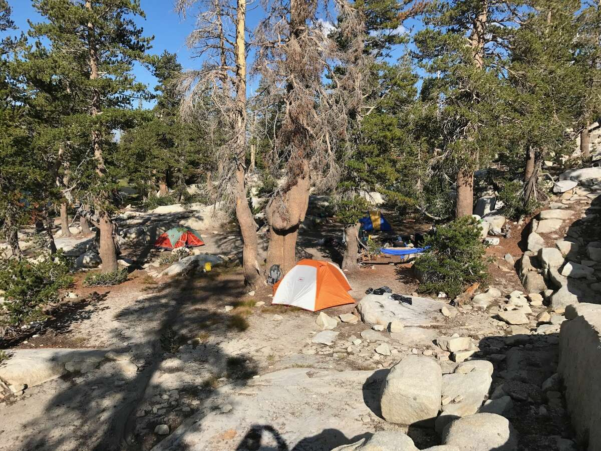 Campground at Island Lake in the Dinkey Lakes Wildernenss.