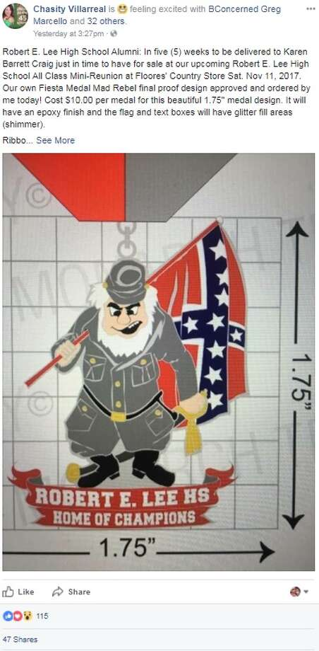 """The school's alumni association is selling a pinable ode to """"Mad Rebel,"""" which will be bygone following a unanimous decision by North East Independent School District trustees in August to drop the """"Robert E. Lee"""" name."""