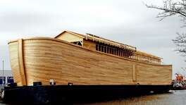 This working replica of Noah's ark was built by Johan Huibers in the Netherlands in 2006. The biblical story of Noah and the flood contains lessons for dealing with modern-day deluges.