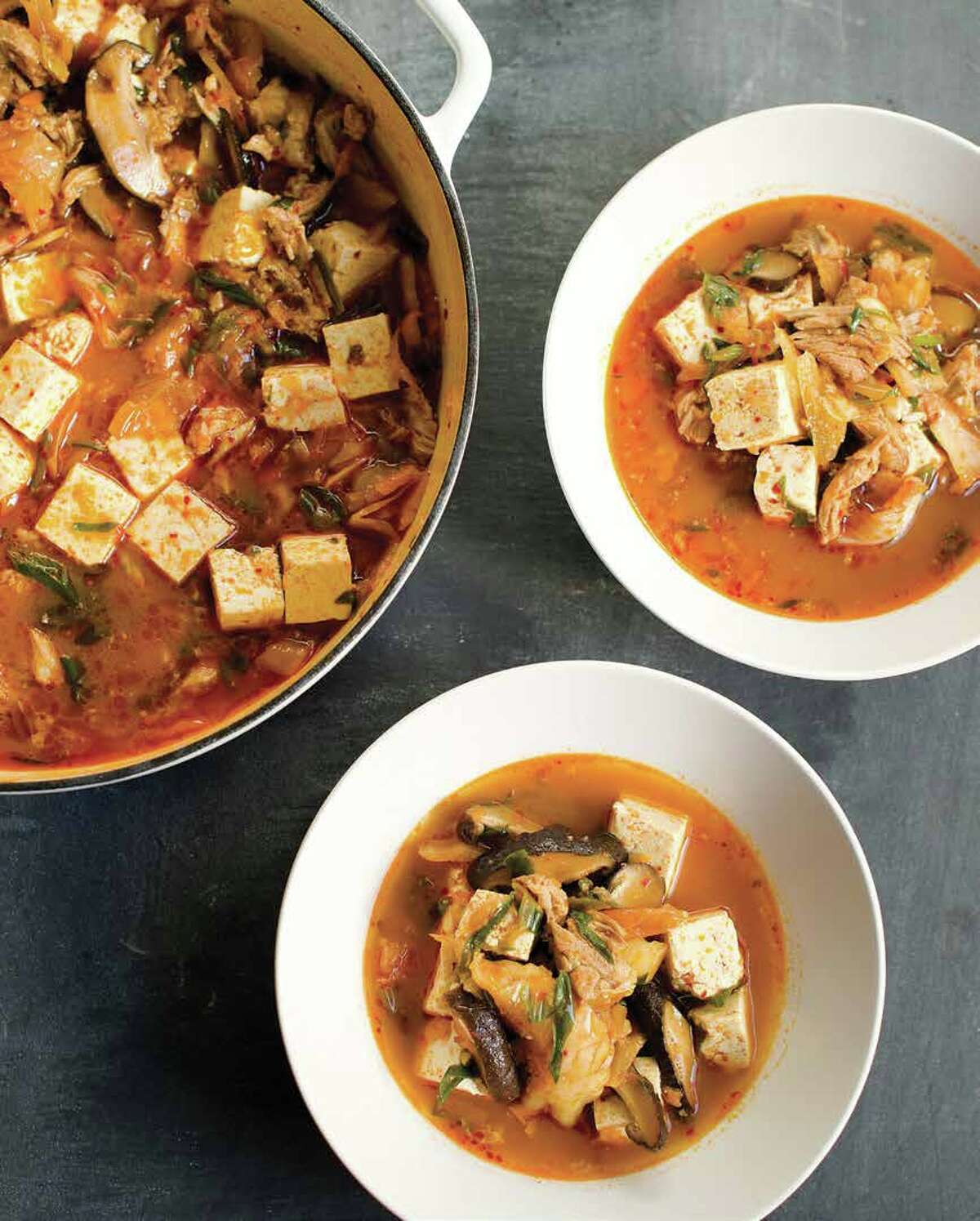 Korean Pork and Kimchi Stew is featured in