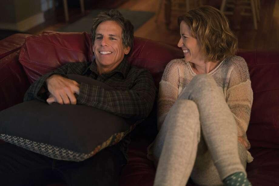 "Ben Stiller and Jenna Fischer in a scene from ""Brad's Status."" Photo: Jonathan Wenk, Associated Press"