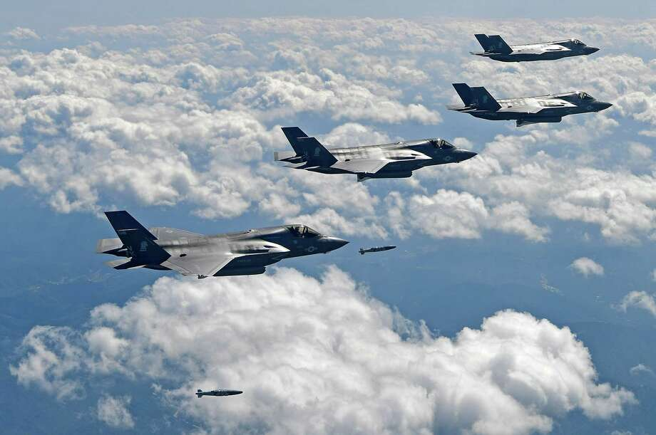 U.S. fighter jets and bombers flew near the demilitarized zone for the first time since recent tension between U.S. and North Korea escalated. Photo: Handout / 2017 South Korean Defense Ministry