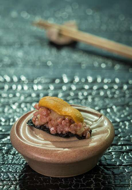 A5 Wagyu beef tartare, crispy nori and Fort Bragg uni at Robin in S.F. Photo: John Storey, Special To The Chronicle
