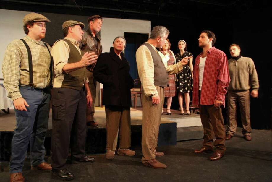 "The cast of ""A View from the Bridge"" performing at Westport Community Theatre. Photo: Contributed Photo"
