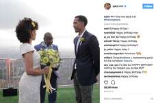 An instagram of Shaun Livingston of the Warriors on his wedding day.