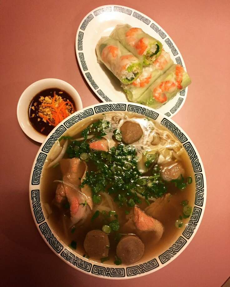 "Thanh Vi, University DistrictAlicia H.: ""Seriously, the vegetable broth in the pho is the best in Seattle. I love ... really any of the vegan pho. Plus the Buddha Plate is the healthiest option on the menu and the tofu is always perfect."" Photo: Michelle G./Yelp"