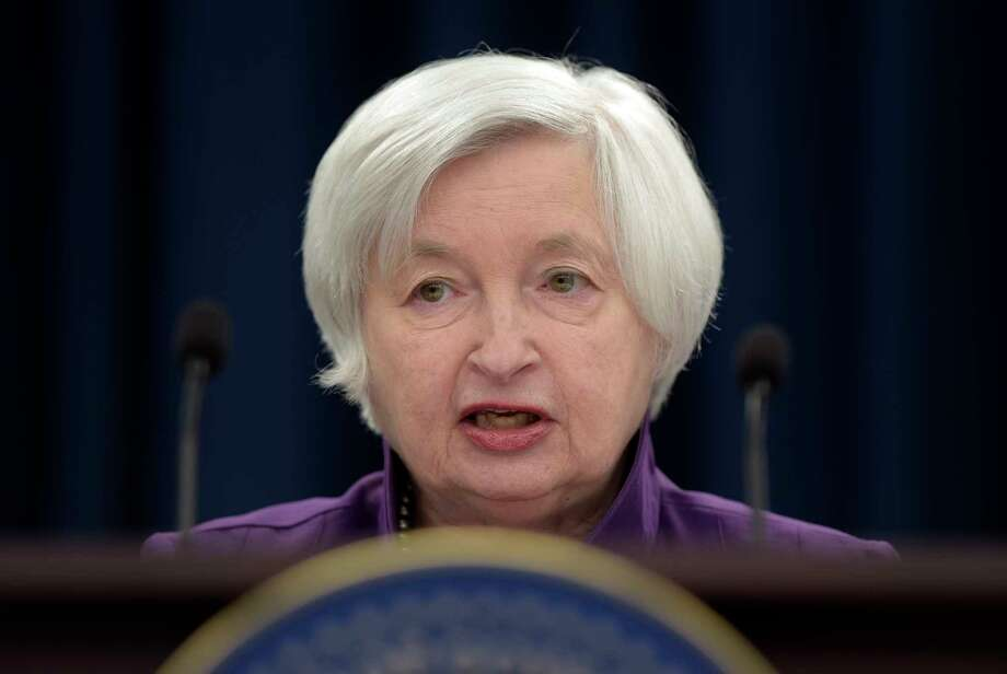 FILE - In this Wednesday, June 14, 2017, file photo, Federal Reserve Chair Janet Yellen speaks in Washington, to announce the Federal Open Market Committee decision on interest rates following a two-day meeting. The Federal Reserve wraps up a two-day meeting of its policymakers on Wednesday, Sept. 20, 2017. (AP Photo/Susan Walsh, File) Photo: Susan Walsh, STF / Copyright 2017 The Associated Press. All rights reserved.
