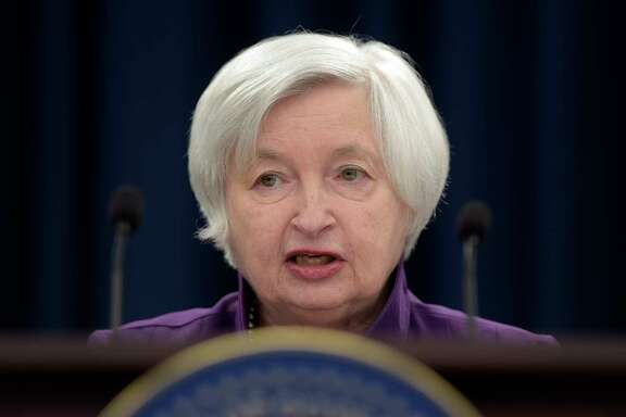 FILE - In this Wednesday, June 14, 2017, file photo, Federal Reserve Chair Janet Yellen speaks in Washington, to announce the Federal Open Market Committee decision on interest rates following a two-day meeting. The Federal Reserve wraps up a two-day meeting of its policymakers on Wednesday, Sept. 20, 2017. (AP Photo/Susan Walsh, File)