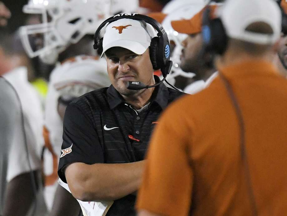 Texas coach Tom Herman stands on the sideline during the second half against USC on Sept. 16, 2017, in Los Angeles. USC won 27-24 in overtime. Photo: Mark J. Terrill /Associated Press / Copyright 2017 The Associated Press. All rights reserved.